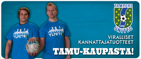 osta Tampere Unitedin oheistuotteita!