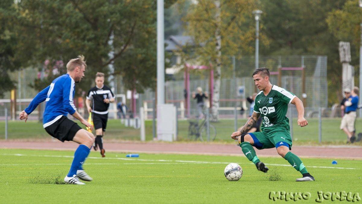 Veli-Pekka Franssila pelasi toisen jakson laitahyökkääjän paikalla