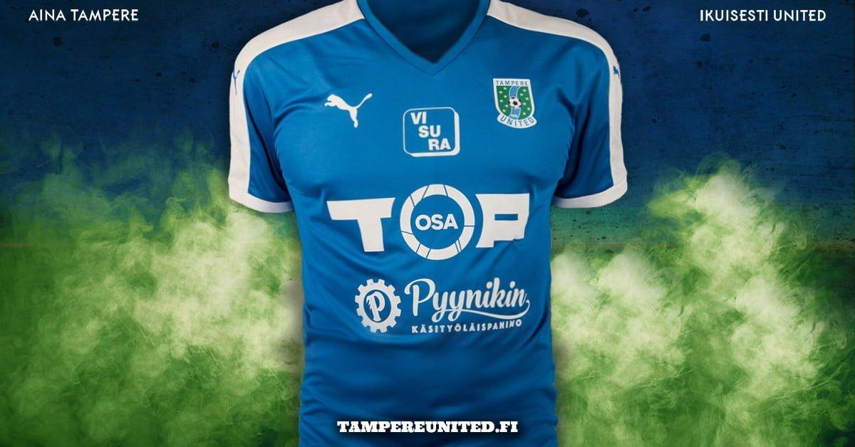 Tampere Unitedin pelipaita 2017.