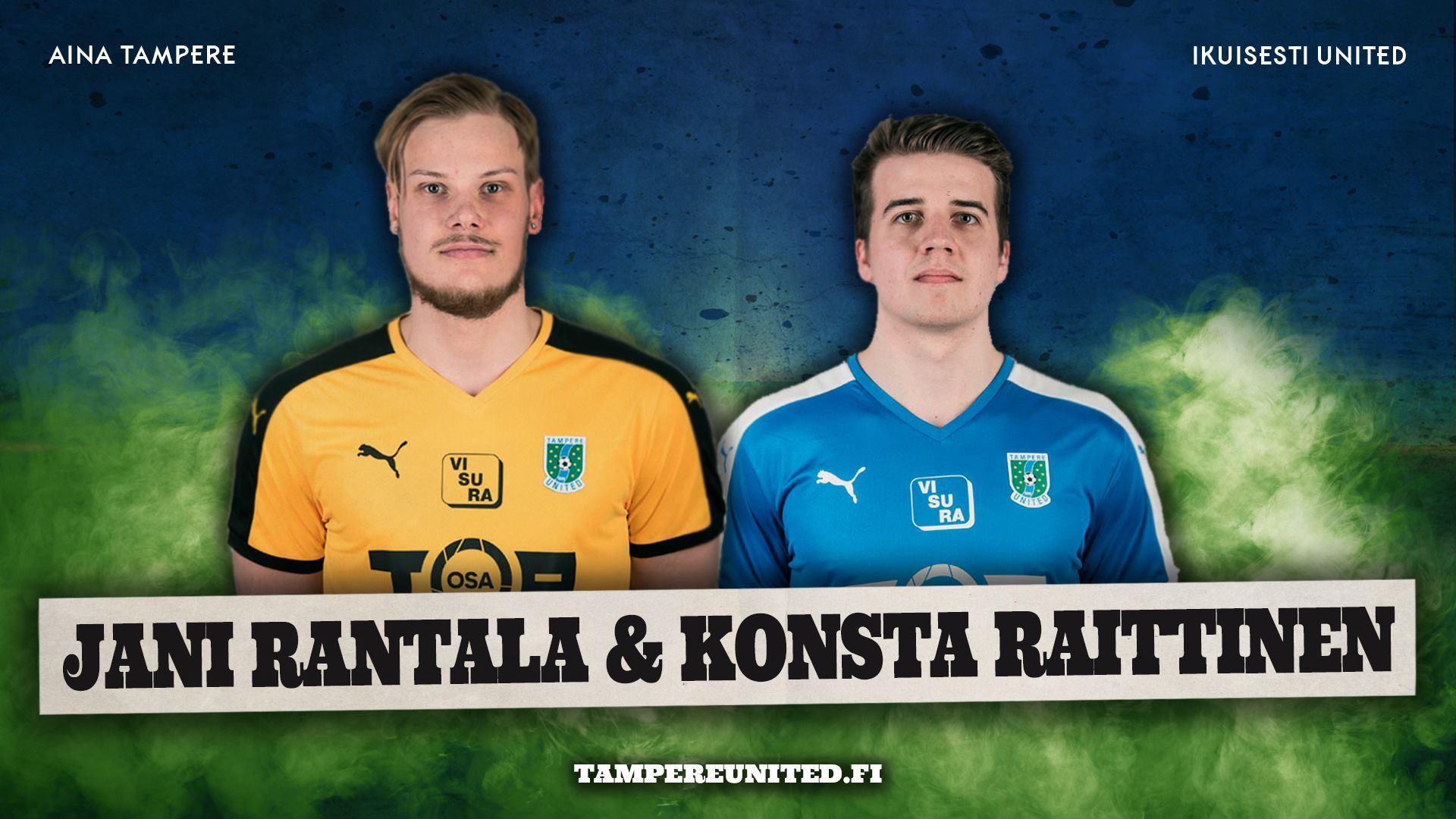 Jani Rantala ja Konsta Raittinen jatkavat Sinipaidoissa -uutiskuva