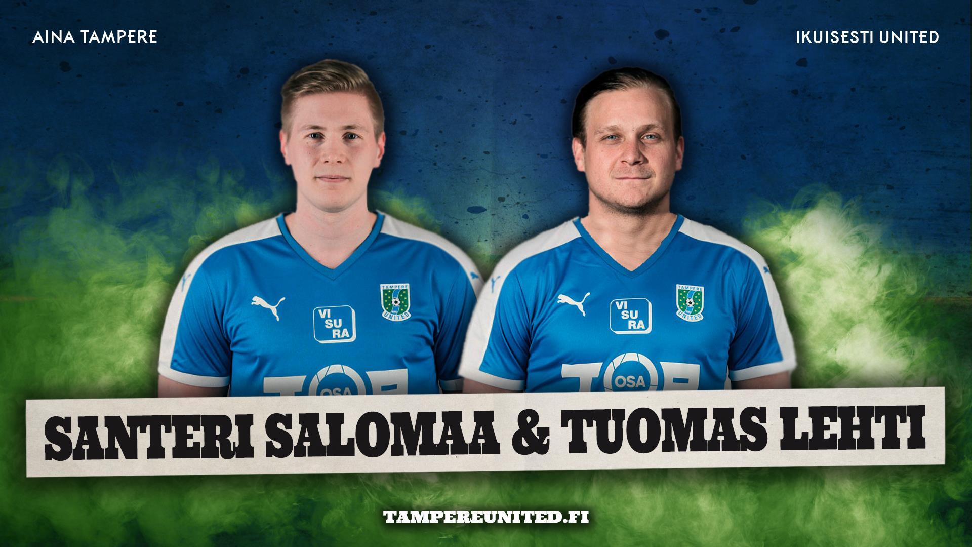 Santeri Salomaa ja Tuomas Lehti jatkosopimuksiin -uutiskuva