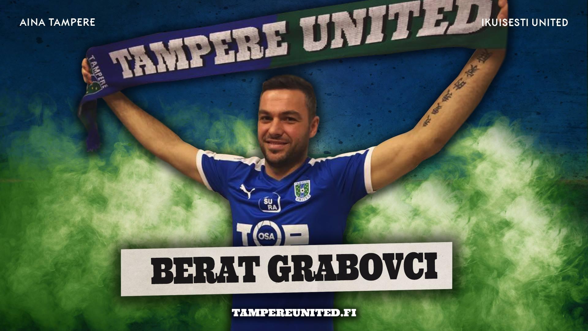 Berat Grabovci tuo tulivoimaa Sinipaitoihin -uutiskuva