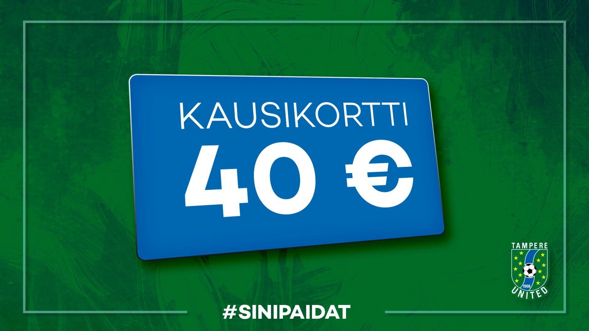 Osta kausikortti kaudelle 2020 – kampanjahinta vain 40 € -uutiskuva