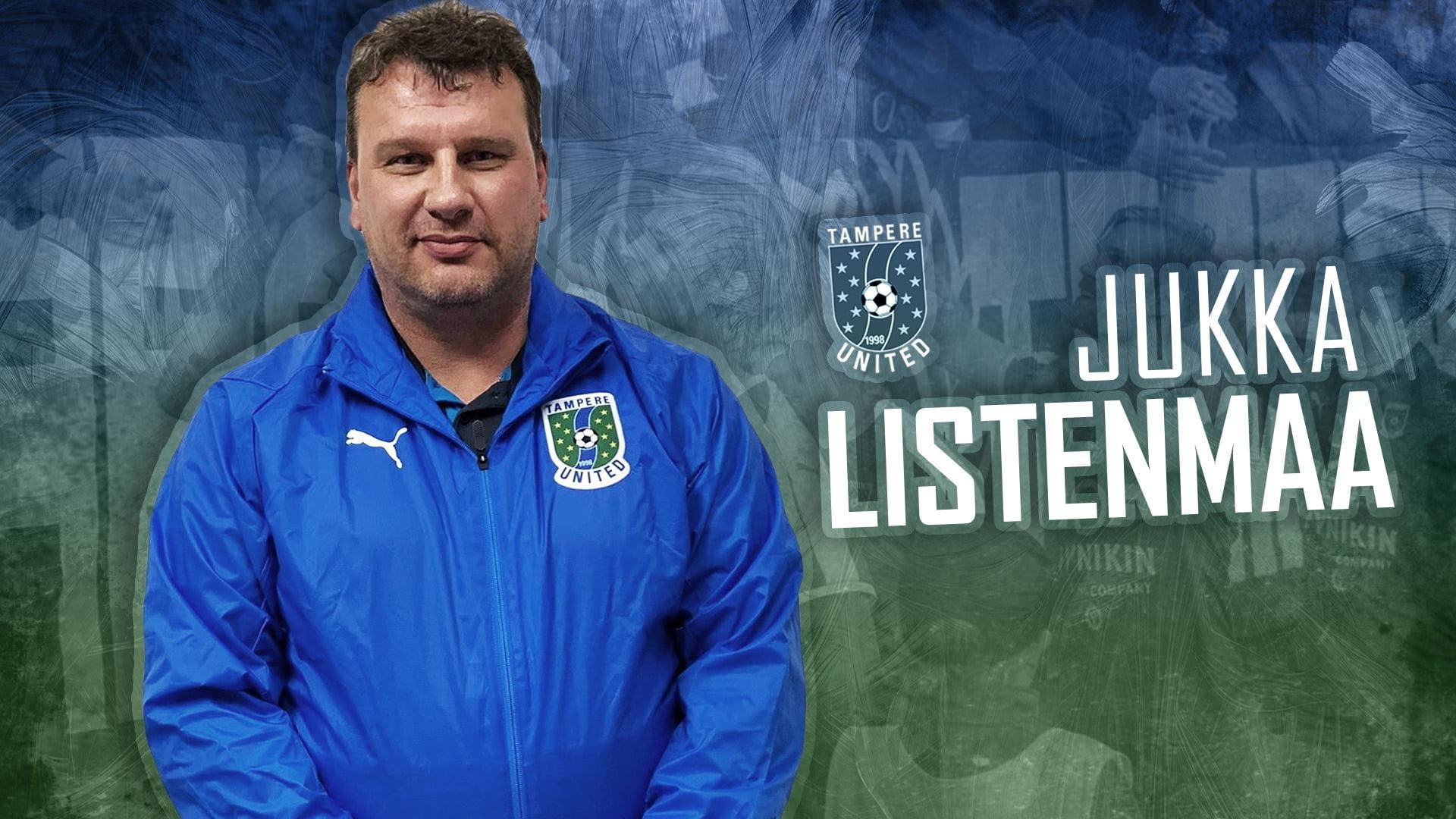 Jukka Listenmaa on Tampere Unitedin uusi päävalmentaja -uutiskuva