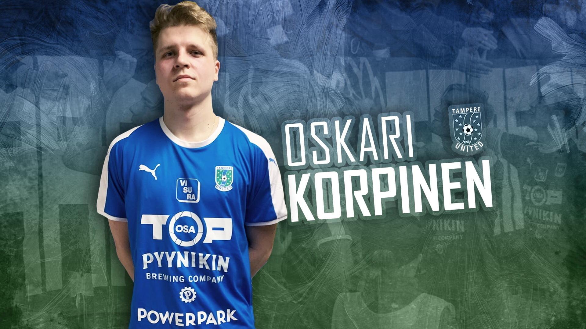Oskari Korpinen täydentää Tampere Unitedin hyökkäysosastoa -uutiskuva