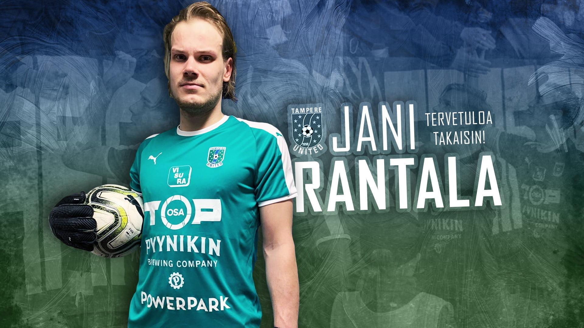Jani Rantala tekee paluun TamUn maalille -uutiskuva