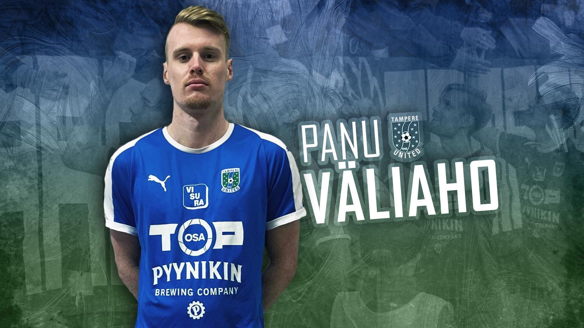 Tampere United ja Panu Väliaho 1+1-vuotiseen sopimukseen -uutiskuva