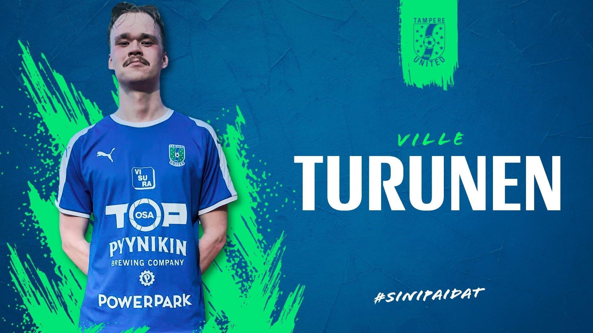 Ison potentiaalin Ville Turunen tuo vaihtoehdon Unitedin keskustaan -uutiskuva
