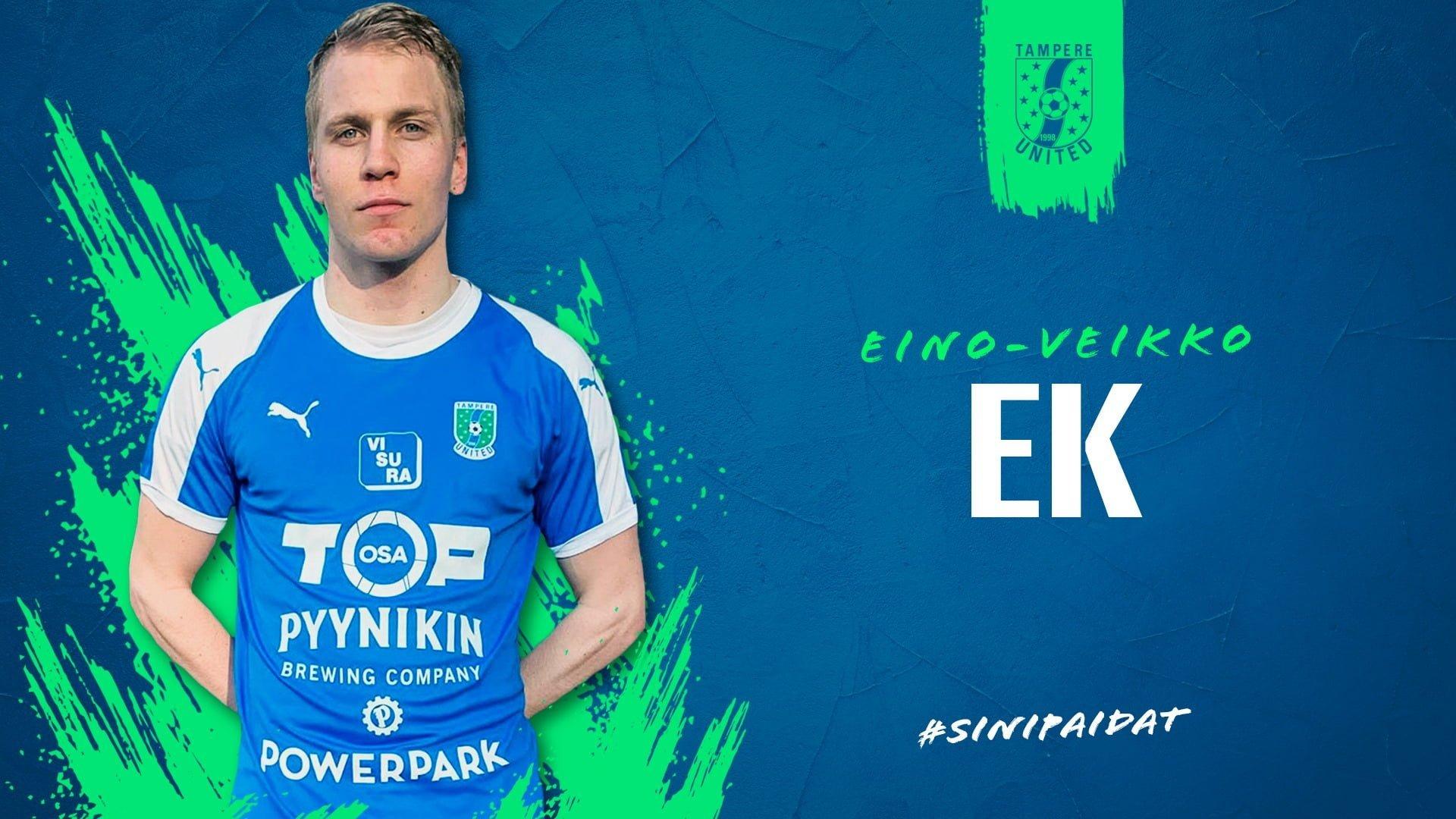 Eino-Veikko Ek vahvistaa Tampere Unitedia -uutiskuva