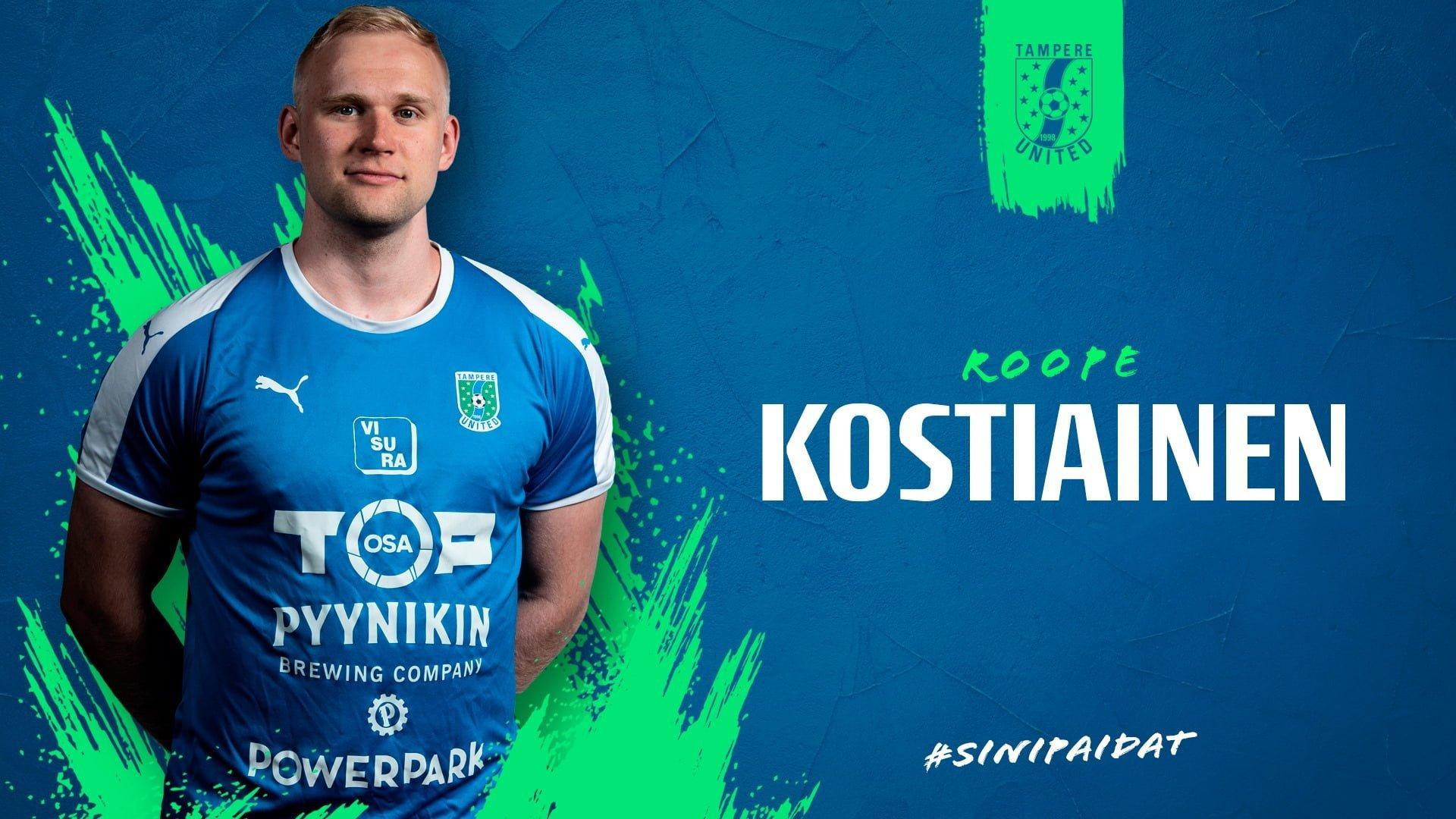 Roope Kostiainen jatkaa Tampere Unitedissa -uutiskuva