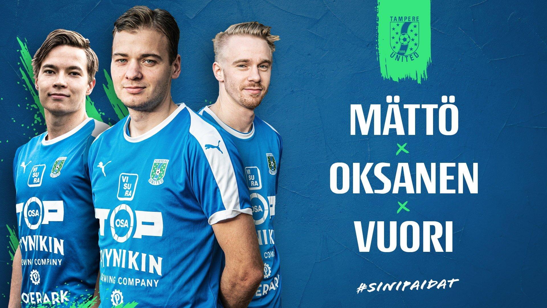Jesset Vuori ja Oksanen sekä Arttu Mättö jatkavat TamUssa -uutiskuva